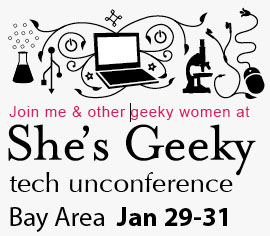 I'm going to She's Geeky